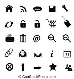 sieć, e-handel, e-handlowy, ikony