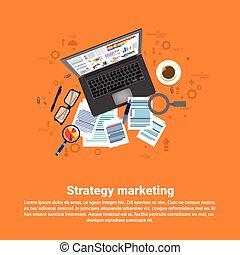 sieć handlowa, handel, strategia, plan, cyfrowy, chorągiew
