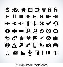 sieć, ikona, komplet