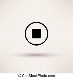 sieć, illustration., zatrzymywać, odizolowany, wektor, ikona