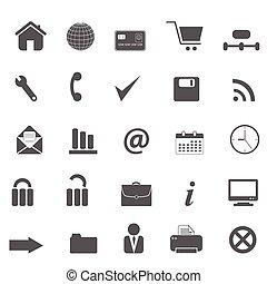 sieć internet, umiejscawiać, ikony