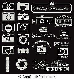 sieć, komplet, logotype, photoraph, zastosowania, elementy, umiejscawiać, logo, albo