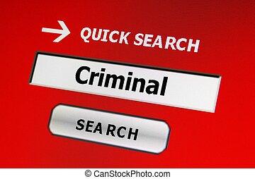 sieć, kryminalny