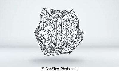 sieć, loopable, formułować, ożywienie, futurystyczny, 3d