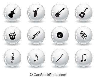 sieć, muzyczny, pikolak, ikony