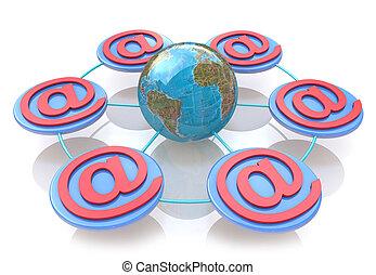 sieć, online