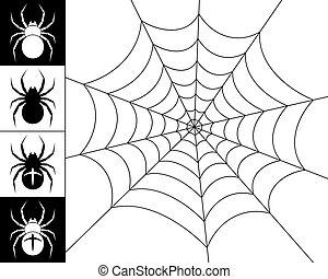 sieć, pająki
