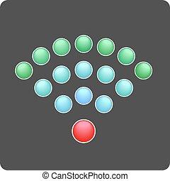 sieć, radiowy, symbol