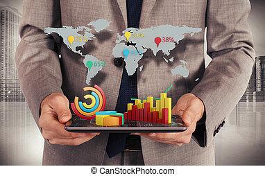 sieć, statystyka, świat