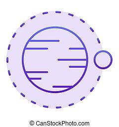 sieć, styl, icon., 10., ikony, nachylenie, przelotny, satelita, płaski, projektować, planeta, eps, projektowany, nad, fiołek, modny, kosmos, astronomia, style., app.