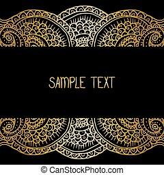 sieć, ułożyć, afisz, karta, tekst, plemienny, etniczny, twój, wektor, miejsce, tło modelują, abstrakcyjny, design.