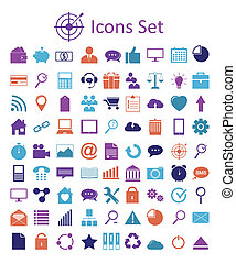 sieć, uniwersalny, mobile., szkic, ikony