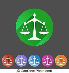 sieć, waga, płaski, symbol, etykieta, znak, logo, prawo, ikona