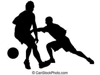 sieben, straße basketball