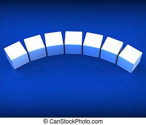 sieben, wort, spielwürfel, copyspace, weisen, 7, leer, brief