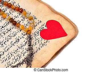 sieczka, rękopis, święty, quran, muslim, modlitwa