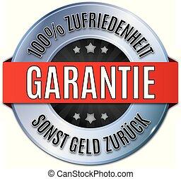 siegel, 100%, rundes, glnzendes, blau, garantie, ...