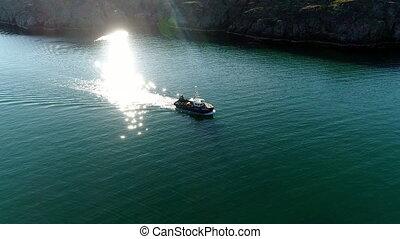 siehe oben, schiff, auf, wasserspiegel, auf, stts, dalniye,...