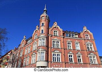 Siemianowice Slaskie, town in Upper Silesia (Gorny Slask) region of Poland. City Council building.