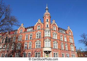 Siemianowice Slaskie, city in Upper Silesia (Gorny Slask) region of Poland. City Council building.