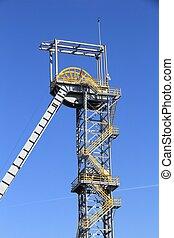 Siemianowice Slaskie, city in Upper Silesia (Gorny Slask) region of Poland. Industrial heritage park - former coal mine shaft.
