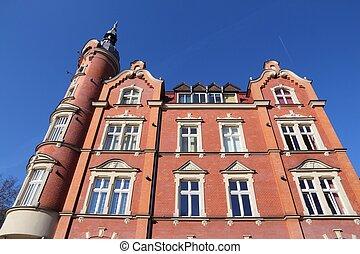 Siemianowice Slaskie, town in Upper Silesia (Gorny Slask) region of Poland. Town Council building.