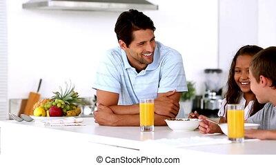sien, avoir, ch, père, petit déjeuner