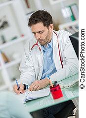 sien, bureau, docteur