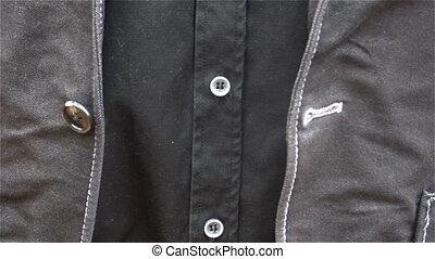 sien, business, jacket., jeune, haut, boutonner, fin, homme