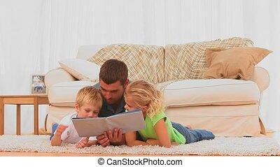 sien, ch, livre lecture, père