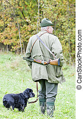 sien, chasseur, chien, chasse