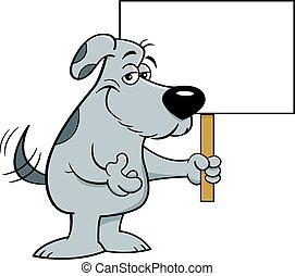 sien, chien, remuer, amical, queue, dessin animé, quoique, tenue, signe.