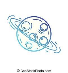 sien, espace, anneaux, planète, uranus, ligne, galaxie
