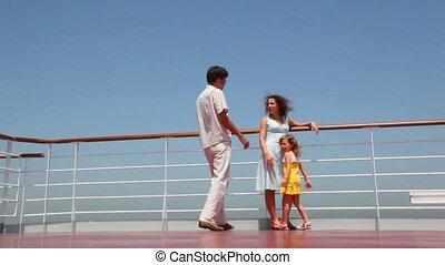 sien, fille, épouse, père, prendre, mains, vient