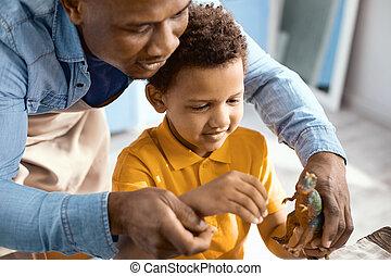 sien, père, jeune, fils, aimer, jouer, cuisine