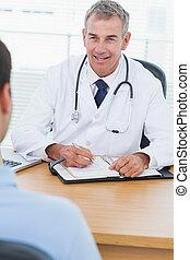 sien, patient, docteur, drogue, gai, prescrire