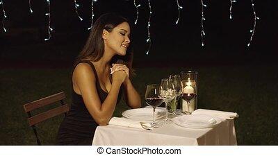 sien, romantique, surprenant, rose, date, homme