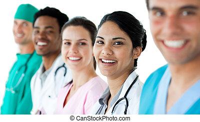 sien, séduisant, docteur, équipe