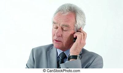 sien, téléphone portable, directeur, utilisation, sérieux