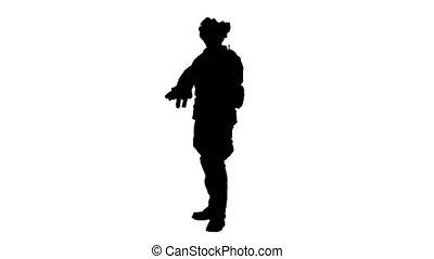 sien, uniforme, engrenage, camouflage, vérification, canal, ...