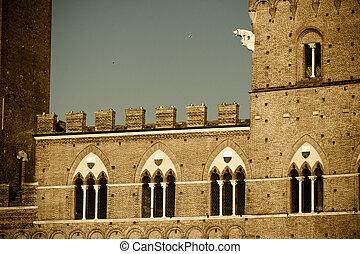 siena, 歴史的, 建築