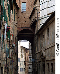 siena, -, 絵のよう, 通り, 中に, ∥, 歴史的, 都市, 中心
