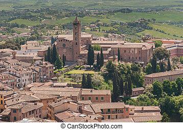 Siena Aerial View