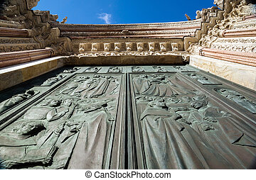 Siena cathedral gates