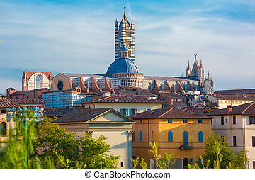 Siena Cathedral in the sunny day, Tuscany, Italy
