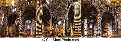 Siena cathedral interior panorama