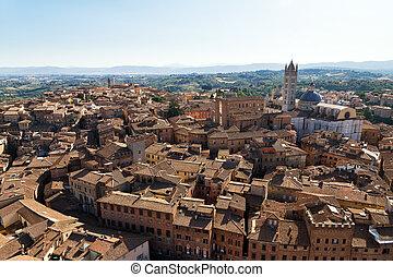 Siena city view