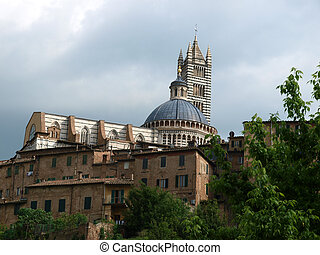 Siena - Duomo towering over the historic city center