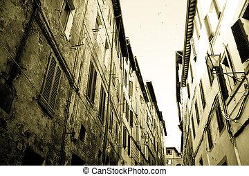 Siena historic architecture