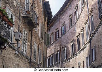 siena , italy:, ιστορικός ανέγερση